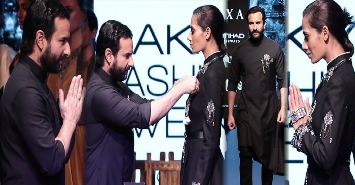 Saif Ali Khan Walks For Shantanu & Nikhil | Spring/Summer 2018 | Lakme Fashion Week