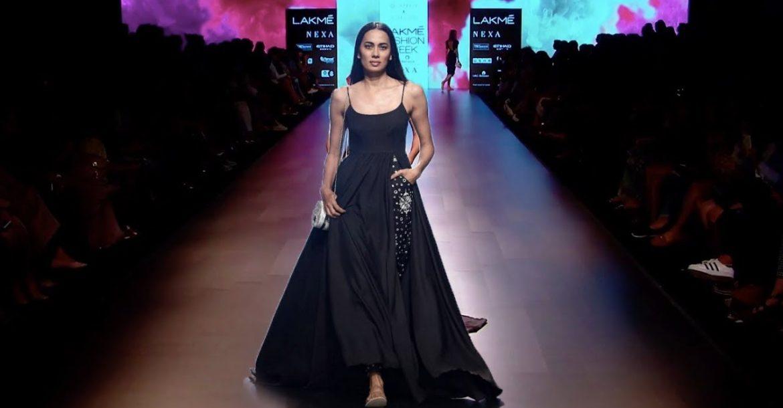 Saiyami Kher Walks For Caprese X Nishka Lulla   Spring/Summer 2018   Lakme Fashion Week