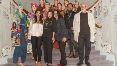 Tariq Amin, Amber Sami, Shamaeel Ansari, Hajira Ahmad, Ehtesham Ansari with the models