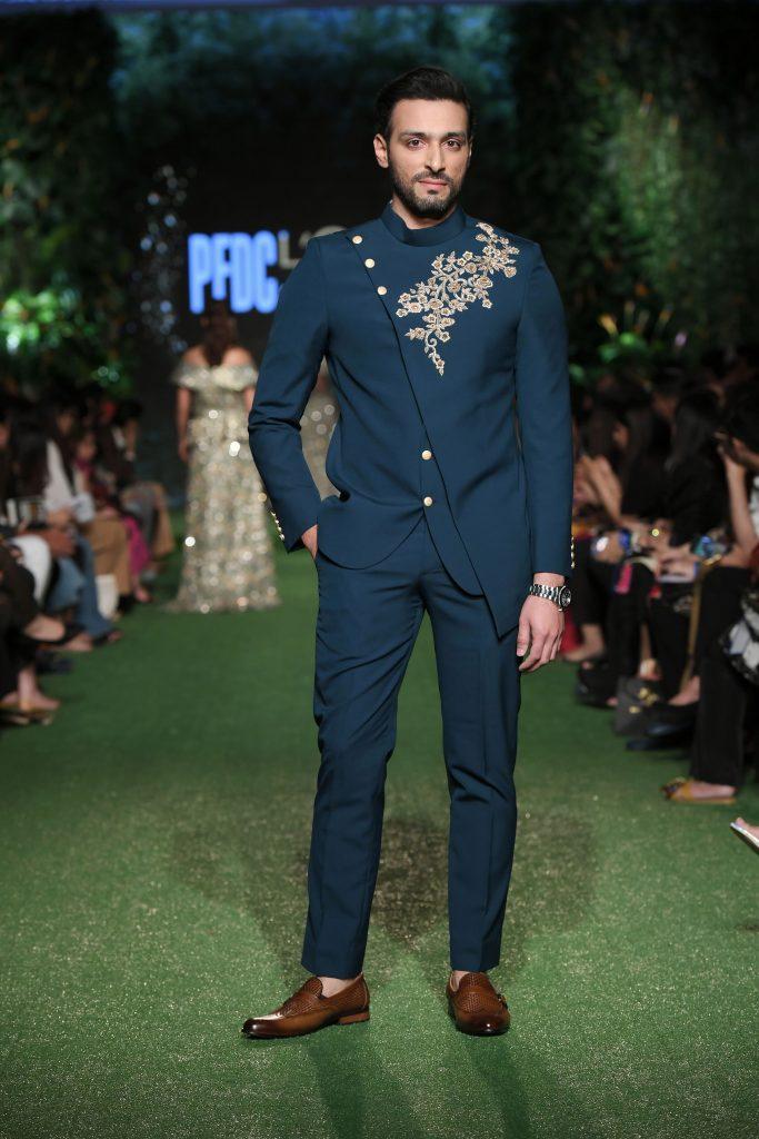 Men fashion, hot blue, Bridal wear