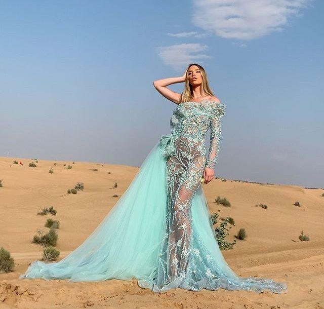 Bridal, Bridal collection, Trendy 2020, Light Blue, Maxi