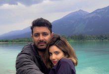 Armeena khan. Fesl khan, Newly married couple, love birds