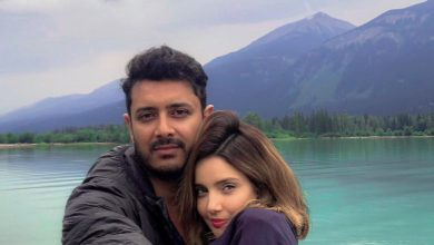 Armeena khan. Fesl khan, Newly married couple, love birds