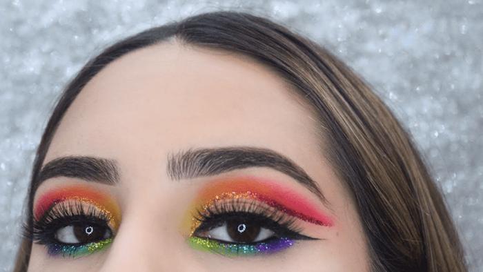 Rainbow eyes, Eye makeup, Trendy makeup, TREND2020