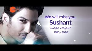 Zee TV Asia Pacific - We Will Miss You Sushant Singh Rajput | Facebook